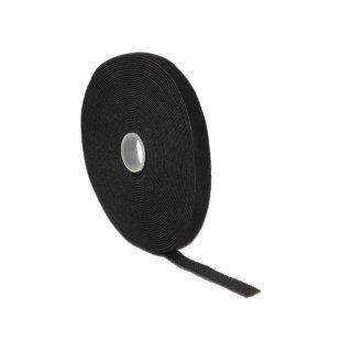 Kabelbinder Delock Klettverschluss 10.000x13mm 1x Rol schw
