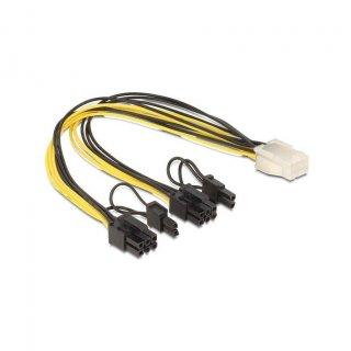 Stromkabel Delock 6Pin PCIe -> 8Pin PCIe Bu/St 0.30m