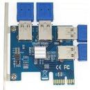 PCI-E Zu PCI-E Adapter 1 auf 4 fach Riser Extender PCIe