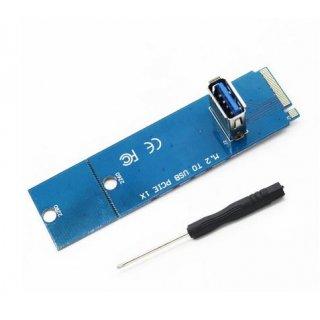 M2 Slot Extender zu  USB 3.0